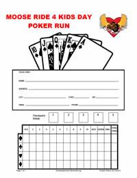 Printable poker run score sheets